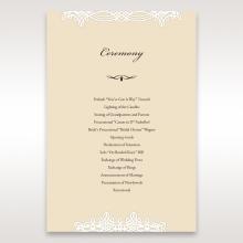Ivory Victorian Charm order of service invitation card design