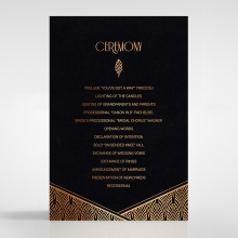 Jeweled Ikat order of service stationery invite card