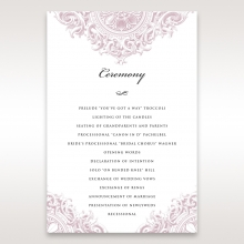 Jewelled Elegance order of service stationery