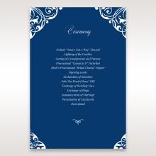 Jewelled Navy Half Pocket order of service invitation