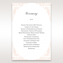 Laser cut Bliss wedding order of service card