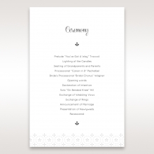 Laser Cut Button wedding stationery order of service ceremony card design