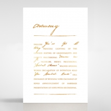 Love Letter wedding stationery order of service ceremony invite card