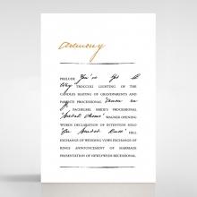 Love Letter wedding stationery order of service ceremony invite card design