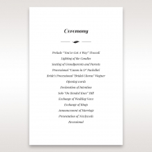 Lovely Lillies wedding order of service invitation card design