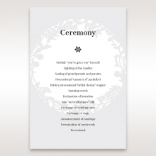 Luscious Forest Laser Cut wedding stationery order of service invitation