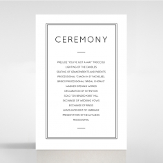 Luxe Paper Elegance wedding order of service ceremony card