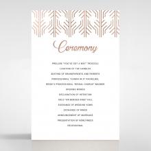 Luxe Rhapsody wedding order of service invite card design