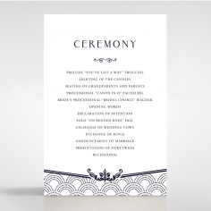 Luxe Victorian order of service card design