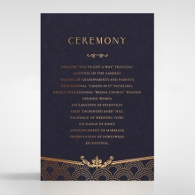 Luxe Victorian wedding order of service invitation card