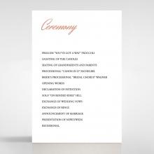 Marble Minimalist wedding order of service invite card