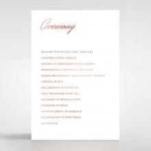 Marble Minimalist wedding order of service invite