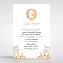 Modern Crest order of service wedding invite card