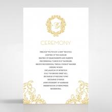 Modern Crest order of service wedding card design