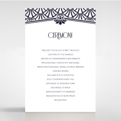 Modern Deco wedding stationery order of service ceremony invite card