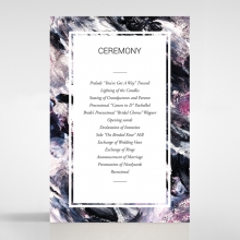 Mulberry Mozaic order of service invitation card design