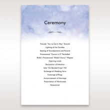 Mythical Garden Laser Cut Pocket order of service ceremony invite card design