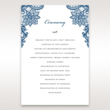 Noble Elegance order of service ceremony invite card