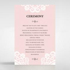Oriental Charm wedding stationery order of service ceremony card design