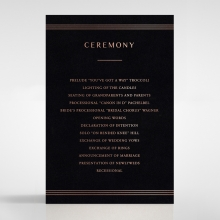Ornate Luxury order of service card