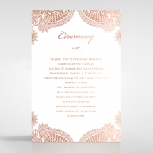 Paisley Grandeur wedding stationery order of service card