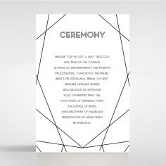 Paper Art Deco wedding order of service invite card