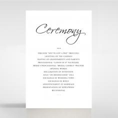 Paper Diamond Drapery wedding stationery order of service invitation card design