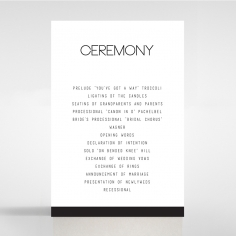 Paper Minimalist Love wedding stationery order of service card design