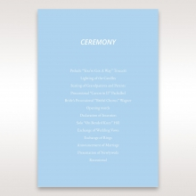 Personalised Love order of service wedding card design