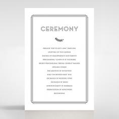 Playful Love order of service invitation
