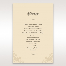 Precious Pearl Pocket order of service wedding invite card design
