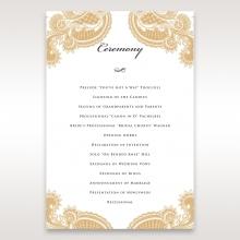 Prosperous Golden Pocket order of service stationery invite