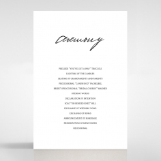 Pure Charm order of service card design