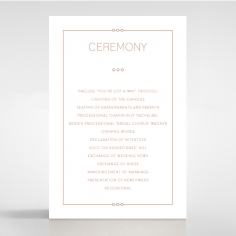 Quilted Grace wedding order of service ceremony invite card