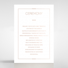 Quilted Grace wedding stationery order of service card
