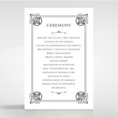 Regal Frame order of service invitation