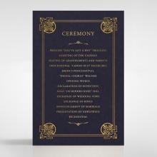 Regal Frame wedding stationery order of service card design