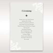 Regal Romance wedding order of service invitation
