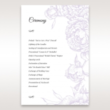 Romantic Rose Pocket order of service stationery card design