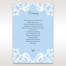 Romantic White Laser Cut Half Pocket wedding stationery order of service card
