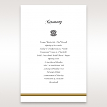 Royal Elegance order of service ceremony invite card