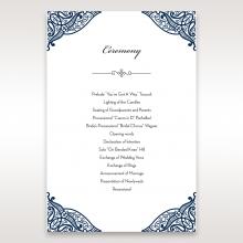 Royal Frame wedding stationery order of service ceremony card