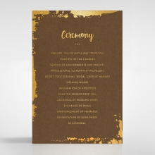 Rusted Charm order of service card design