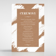 Rustic Brush Stroke order of service stationery card design