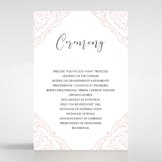 Rustic Elegance wedding stationery order of service invite card