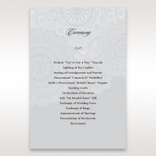 Rustic Lace Pocket wedding stationery order of service ceremony invite card design