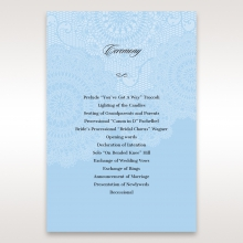 Rustic Lace Pocket wedding stationery order of service ceremony card