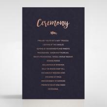 Rustic Lustre order of service wedding card design