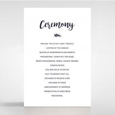 Rustic Lustre wedding order of service ceremony invite card