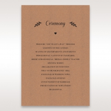Rustic order of service stationery invite